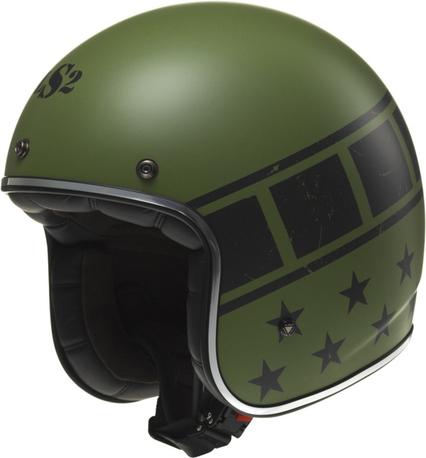 LS2 Hjälm OF583 BOBBER KURT matt grön S