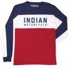 MENS LS COLOR BLOCK TEE
